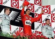 Polémica en Italia por los excesos de Schumacher en el podio