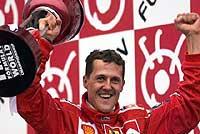 Schumacher abrillanta la leyenda de Ferrari